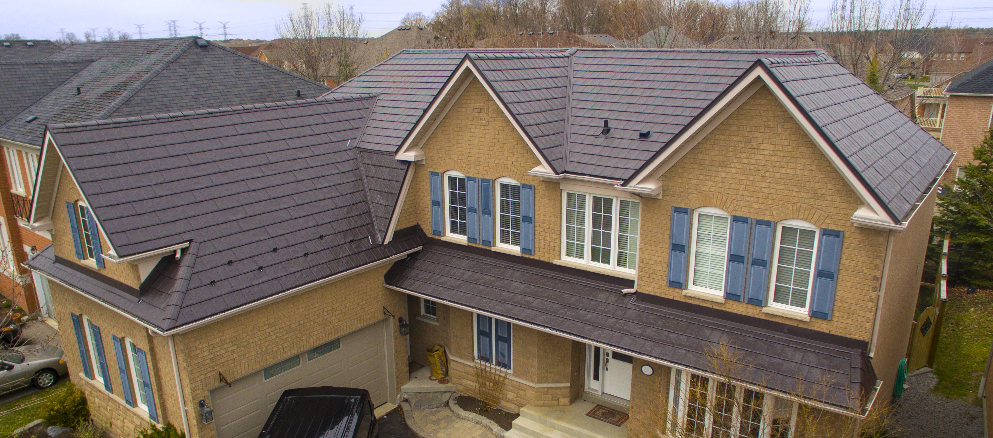 Roofing project by roofing contractors Addison