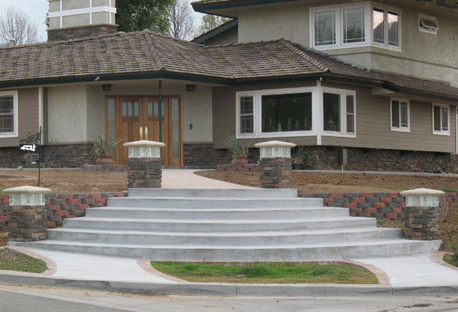 stairs project by concrete steps contractors chicago