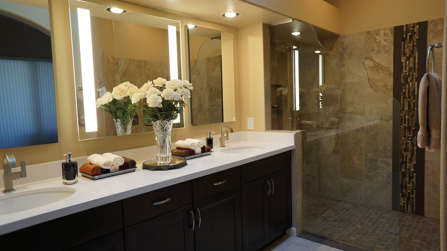 bathroom remodeling project completed by Superior remodeling contractors