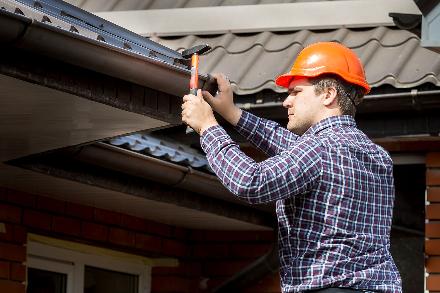 roofing contractors during inspection