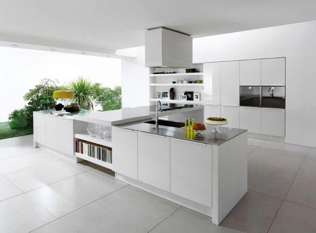 white modern kitchen by express